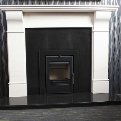 Belvedere, Hand Carved Limestone Fireplace